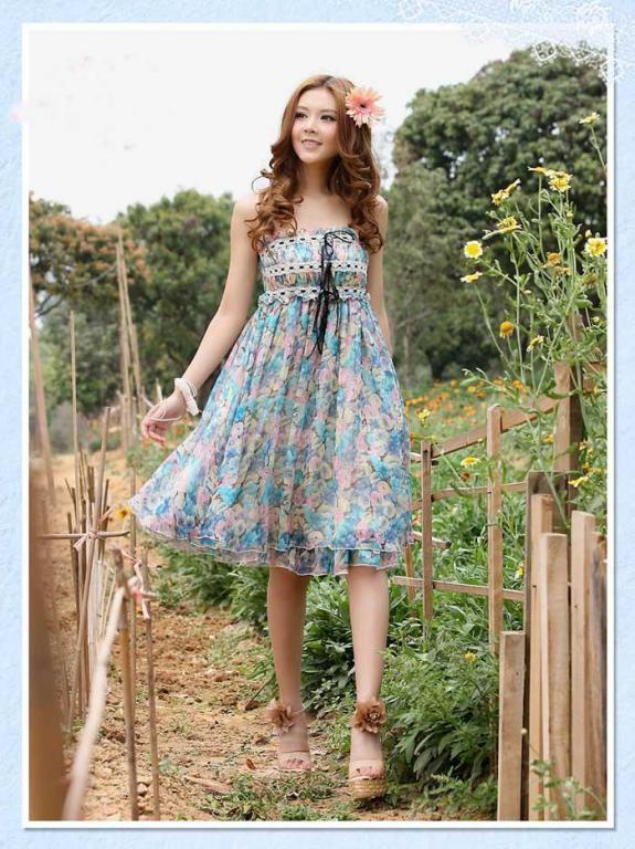 Шифонова сукня до колін нові